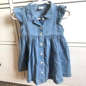 Baby GAP denim chambray button down dress
